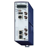 RS20-0400M4M4SDAEHHXX.X., 4 porty  1. uplink: 100BASE-FX, MM-ST  2. uplink: 100BASE-FX, MM-ST  2 x standard 10/100 BASE TX, RJ45 ,HIRSCHMANN